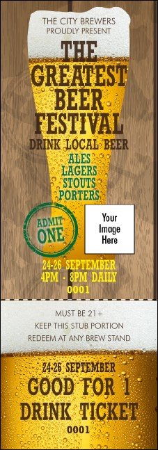 Beer Festival Event Ticket