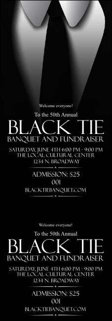 Black Tie Event Ticket Product Front
