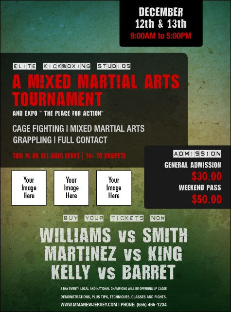 Contemporary Mixed Martial Arts Flyer