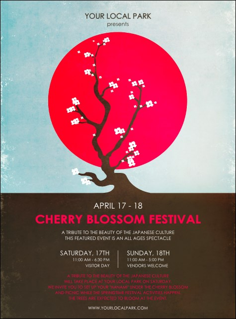 Cherry Blossom Circle Flyer