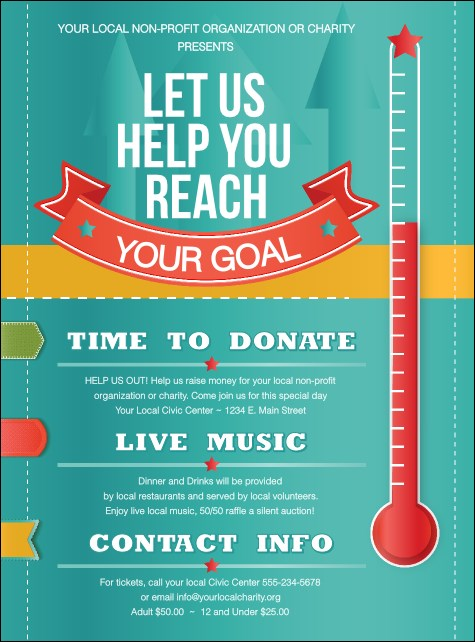 Fundraising Thermometer Flyer