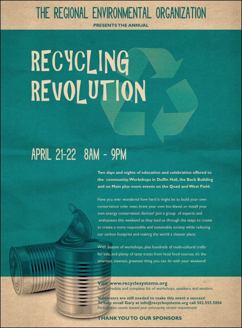 Recycling Symbol Flyer