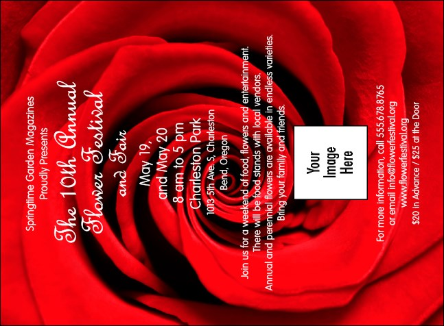 Red Rose Invitation Product Front