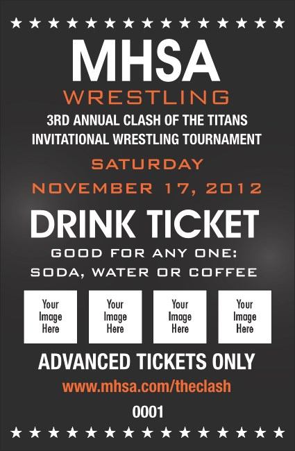 Wrestling Drink Ticket (Black)