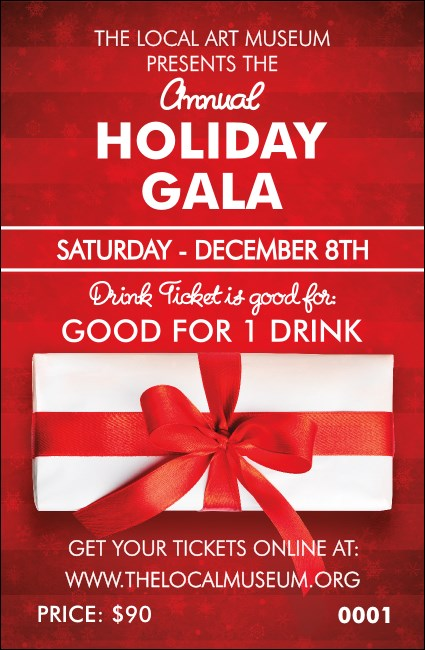 Holiday Gift Drink Ticket