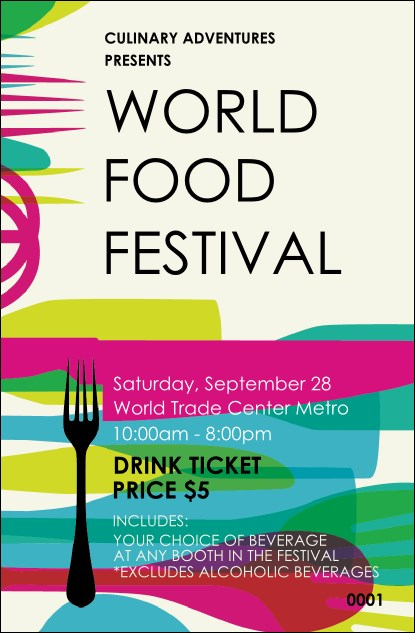 World Food Festival Drink Ticket