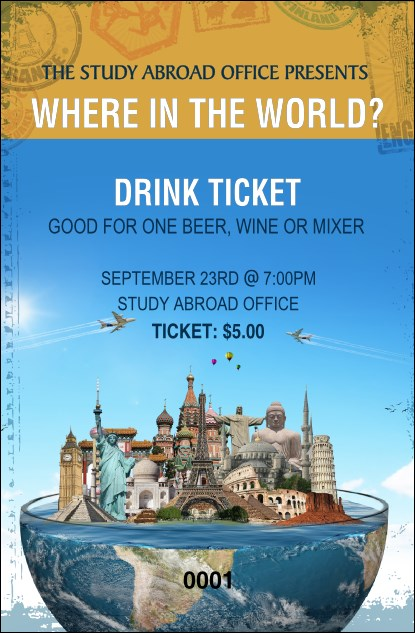 World Travel Drink Ticket