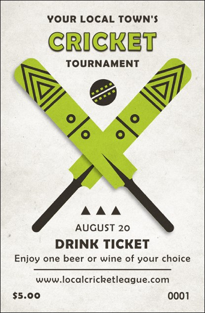 Cricket Drink Ticket