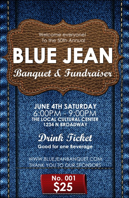 Blue Jeans Drink Ticket