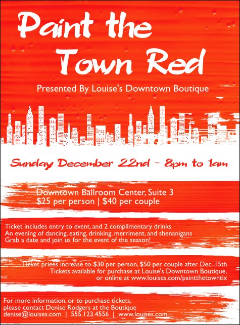 Paint The Town Red Flyer