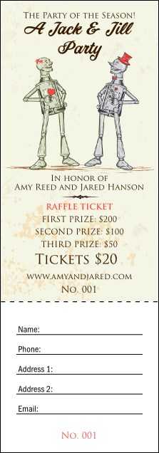 Robot Jack and Jill Raffle Ticket